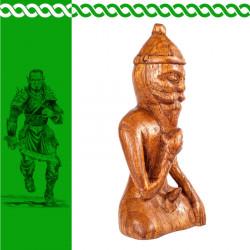 Holzfigur Freyr