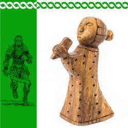 Holzfigur Frejya